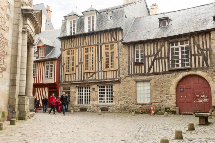 la jolie rue de la Psalette, à Rennes