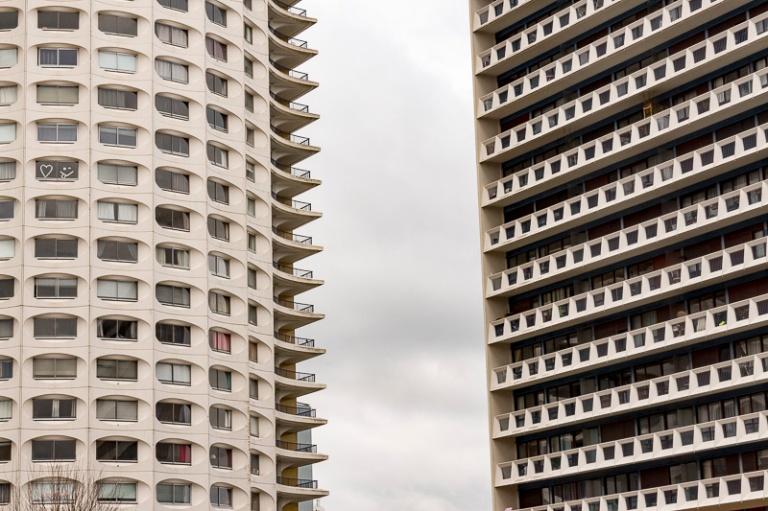 la tour Horizon (à gauche) à Rennes